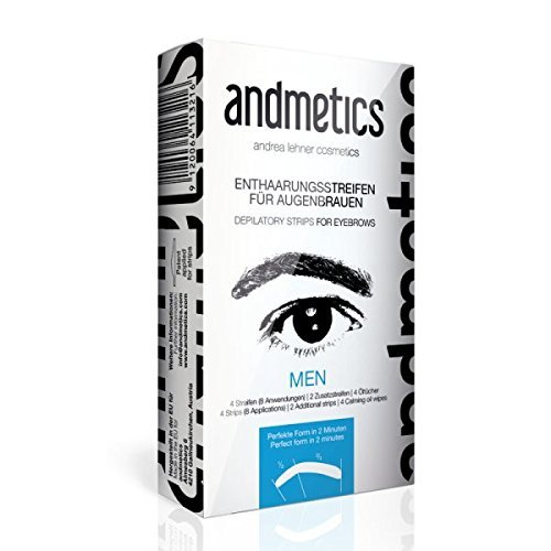 Andmetics  - Wax Depilation strips for Eyebrows, Upper lip and T-Zone