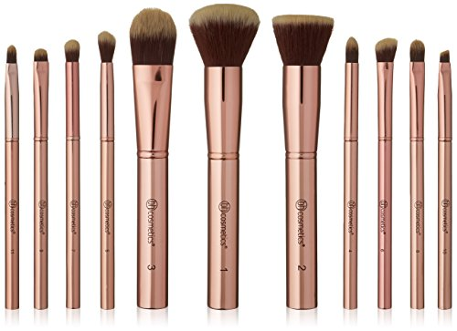 BHCosmetics - Metal Rose 11 Piece Brush Set with Cosmetic Bag