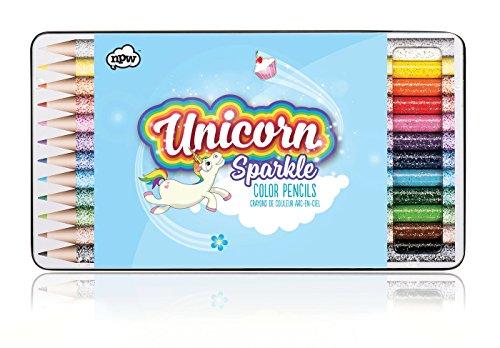 NPW - NPW Unicorn Color Pencils, Two-Tone, 12Count