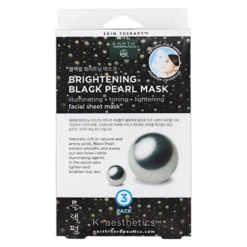 Earth Therapeutics - Brightening Black Pearl Facial Sheet Mask