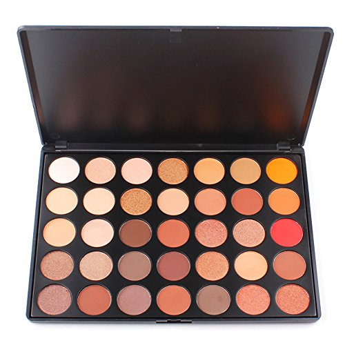Sunsent Sunsent 35 Colors Nature Glow Eyeshadow Make up Waterproof Palette