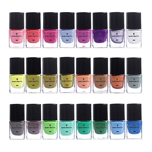 Born Pretty - BORN PRETTY 6ml Stamping Polish Lacquer Colorful Nail Art Plate Printing Polish 24 Colors