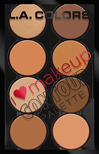 L.A. Colors - L.A. Colors I Heart Makeup Contour Palette, Medium to Dark, 1.04 Ounce
