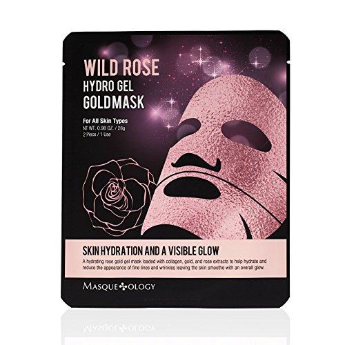 Masqueology - Masqueology Wild Rose Hydro Gel Gold Mask, 0.98 oz.