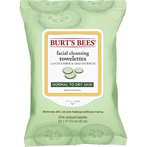 Burt's Bees Baby - Burt's Bees Sensitive Facial Cleansing Towelettes with Cucumber and Sage - 30 Count