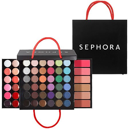 "Sephora - SEPHORA COLLECTION Medium Shopping Bag Makeup Palette 0.918 oz; 4.5 x 4.5 x 1"" (closed); 4.5 x 8 x 8"" (expanded)"
