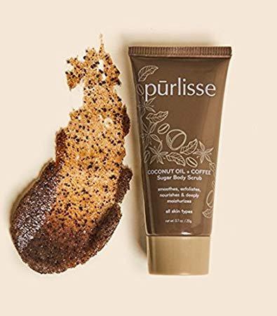 pur-lisse - Purlisse Coconut Oil + Coffee Sugar Body Scrub ~ Travel/Sample Size 0.7 oz
