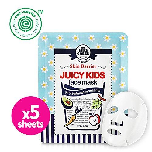 Big Green  - Natural Juicy Kids Face Mask