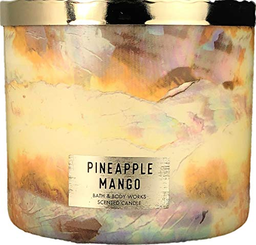 Bath & Body Works - Bath and Body Works Pineapple Mango Scented 3 Wick Candle 14.5 Ounce
