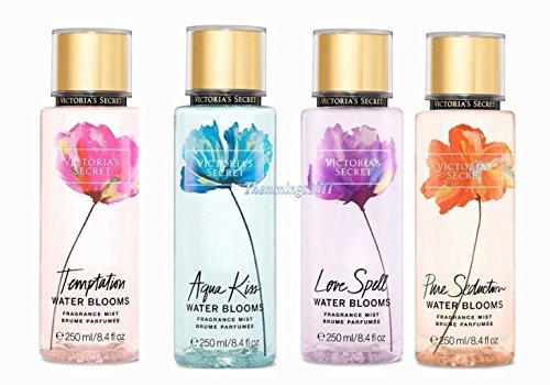 Victoria's Secret - Victoria's Secret Set of 4 Water Blooms Mist: Aqua Kiss, Love Spell, Pure Seduction, Temptation
