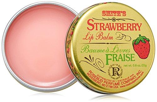 Rosebud - Rosebud, Strawberry Lip Balm Tin, 0.8 Ounce