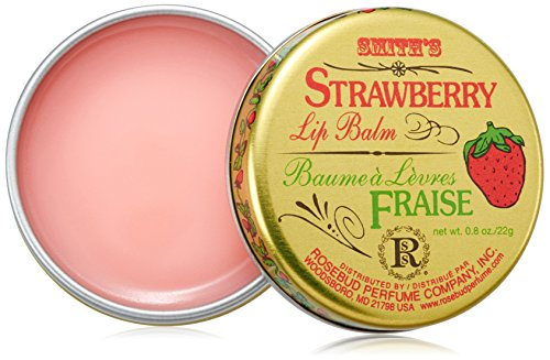 Rosebud - Rosebud, Strawberry Lip Balm Tin, 0.8 Ounce