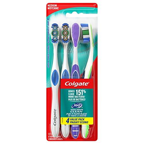 Colgate - Colgate 360 Adult Toothbrush, Medium (4 Count)