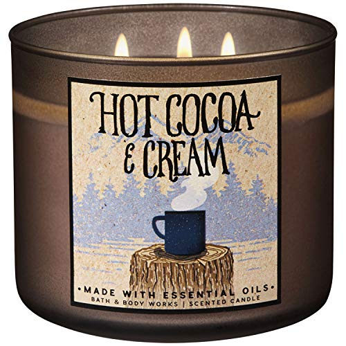 Bath & Body Works - Bath and Body Works 2018 Holiday Limited Edition 3-Wick Candle (Hot Cocoa and Cream)