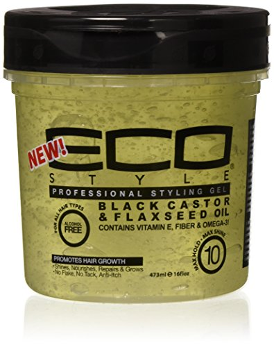 Eco Style - Eco Style Black Castor & Flaxseed Oil Gel, 16 Ounce