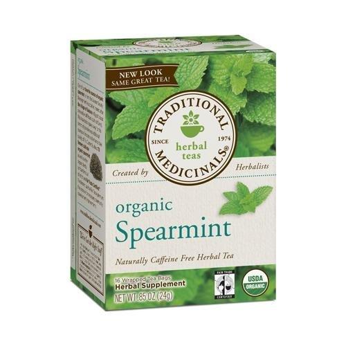Traditional Medicinals - Traditional Medicinals Spearmint, Herbal Tea, Organic (Pack - 2)