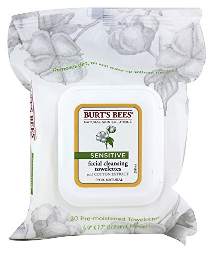 Burt's Bees - Burt's Bees, Towelettes Face Cleansing Sensitive, 30 Count