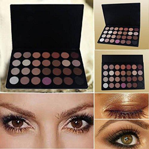 CYCTECH - Makeup Eyeshadow Palette,28 Color Natural Nude Matte Glitter Pigment Eye Shadow Pallete Waterproof Smokey Professional Cosmetic Beauty Kit by CYCTECH (28 Color)