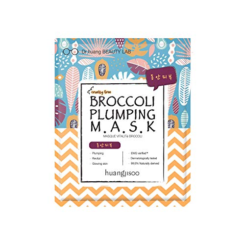 huangjisoo - [huangjisoo] Broccoli Plumping Sheet Mask - Best Organic, Natural, Korean Sheet Mask for Saggy & Tired Skin - A Set of 5