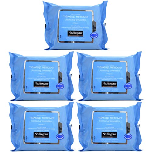 Neutrogena - Neutrogena Make-Up Remover Cleansing Towelettes Refills 25 Each (Pack of 5)
