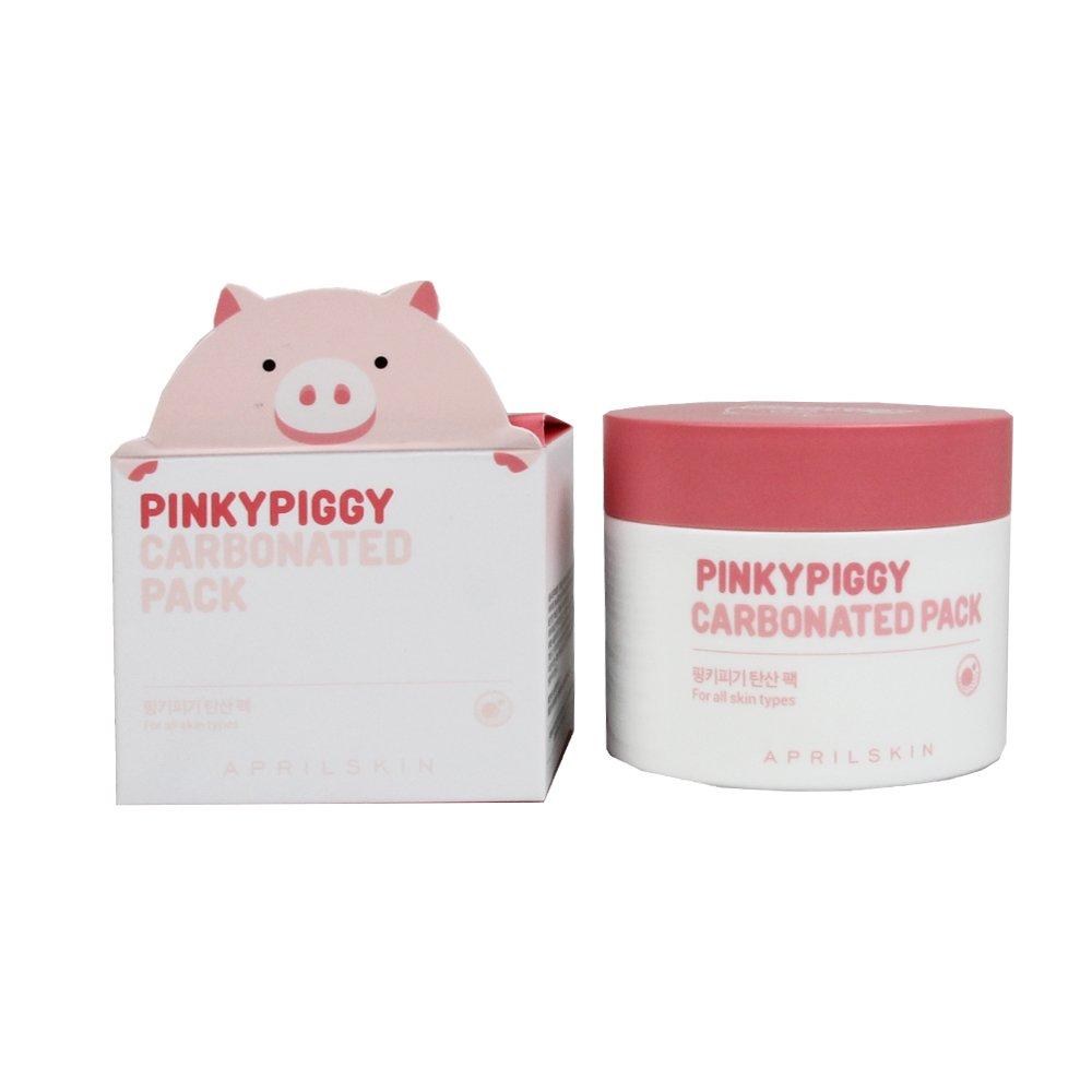 null - April Skin PinkyPiggy Carbonated Pack 3.38 Ounce / 100 Gram