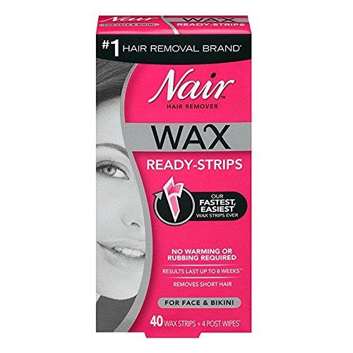 Nair - Nair Hair Remover Wax Ready-Strips 40 Count Face/Bikini (2 Pack)