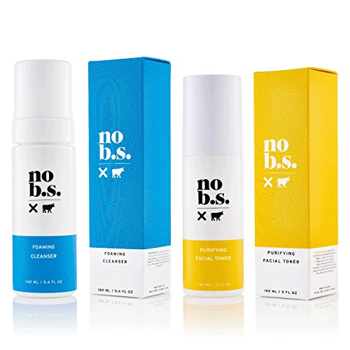 NO B. S. NO BAD STUFF - No B.S. Foaming Cleanser and Facial Toner Duo - Natural Face Wash For Women and Pore Minimizer Combo