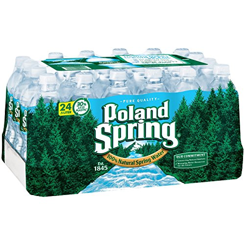 Poland Springs - Pol and Springs Spring Water, .5 Liter, 0.50-Count (Pack of 24)