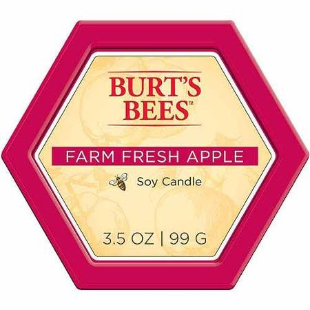 Burt's Bees Farm Fresh Apple Candle Tin