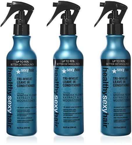 Sexy Hair Concepts - Healthy Sexy Hair Soy Tri-Wheat Leave In Conditioner, 8.5 oz (Pack of 3)