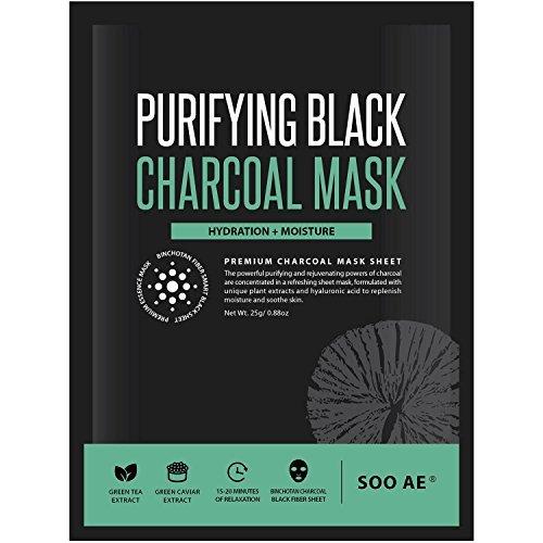 SOOAE - Soo Ae Purifying Black Charcoal Mask, 0.88 oz (1 application)