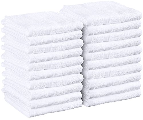 Utopia Towels - Utopia Towels Cotton Salon Towels - Gym Towel - Hand Towel - (24-Pack, White) - 16 inches x 27 inches, Not Bleach Proof - Ring-Spun Cotton - Maximum Softness and Absorbency, Easy Care (24, white)