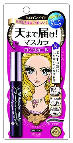 Heroine Make - 1 X Isehan Kiss Me heroine make   Mascara   Long & Curl & SUPER WATER PROOF Mascara 01 Jet Black 7g by Ise half