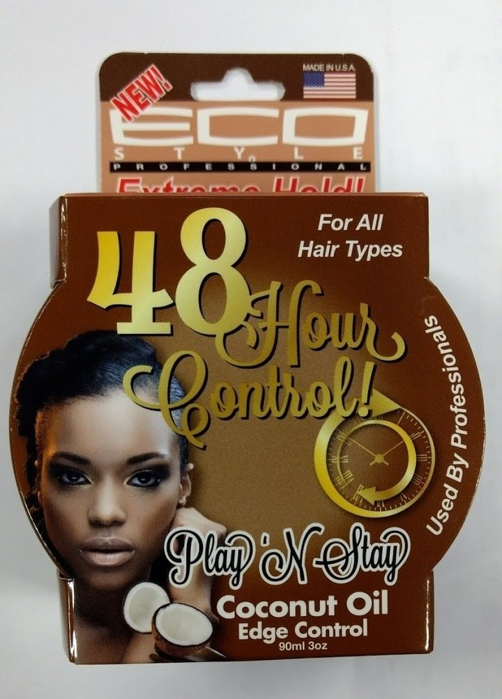 Eco Style - Eco Style Play N Stay 48 Hour Coconut Oil Edge Control Gel - 3 oz