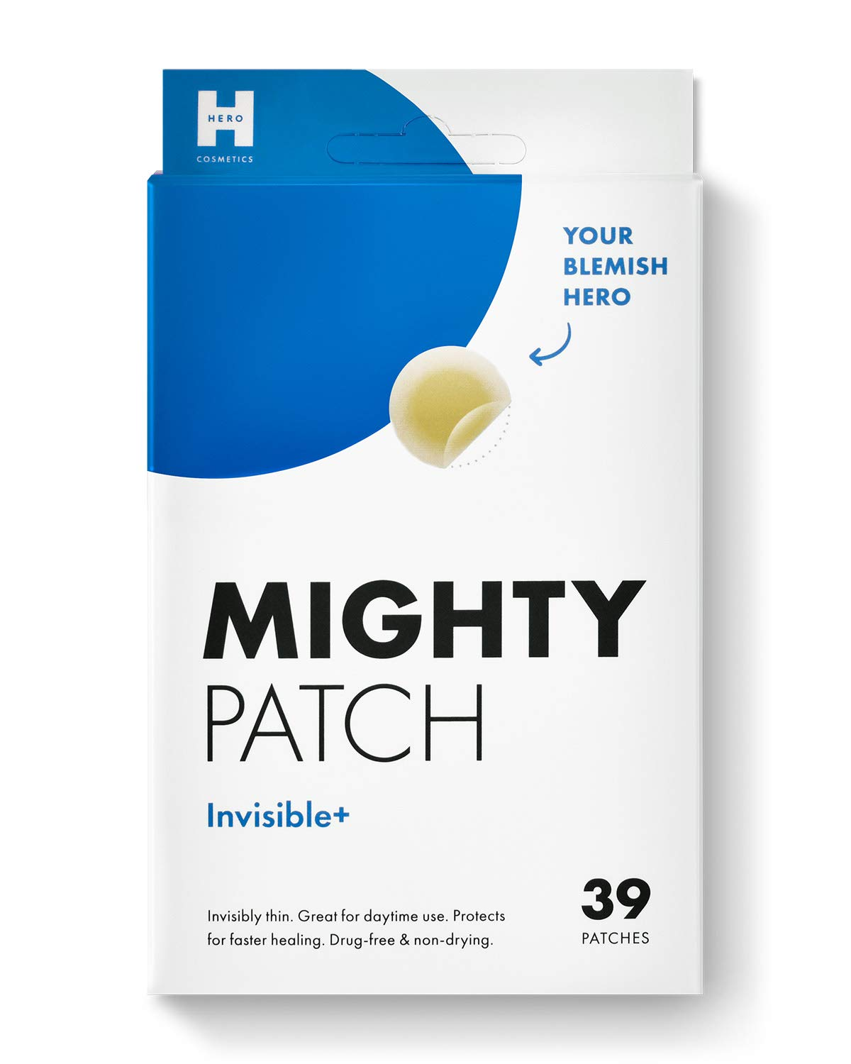 Mighty Patch - Mighty Patch Invisible Hydrocolloid Acne Pimple Patch Ultra Thin Spot Treatment (39 count) for Face and Day, Vegan, Cruelty-Free