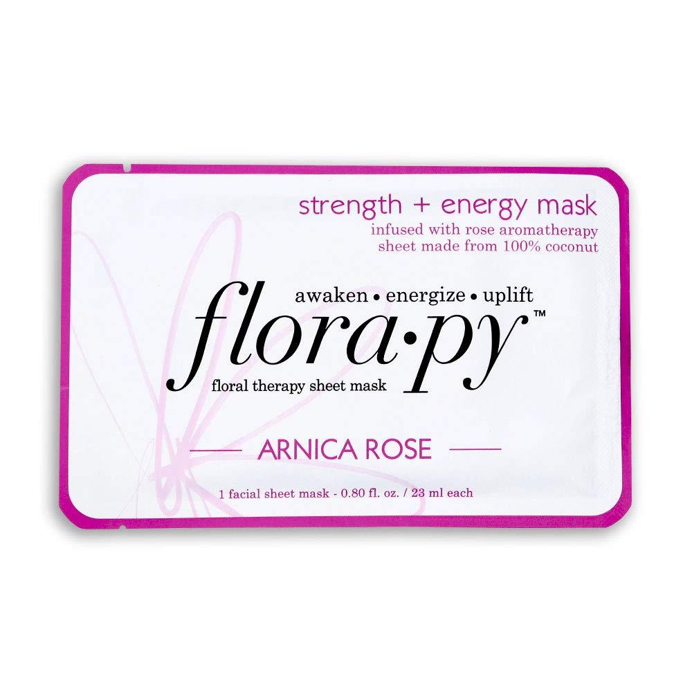 Florapy - Beauty Strength + Energy Sheet Aromatherapy Mask, Arnica Rose