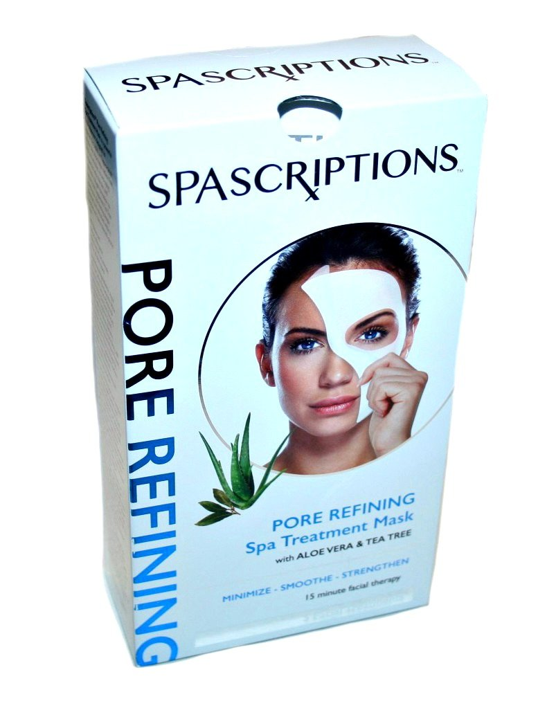null - SPAScriptions Pore Refining Spa Treatment Mask with Aloe Vera & Tea Tree (5 Treatments)