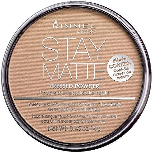 Rimmel - Rimmel London Stay Matte Long Lasting Pressed Powder, Silky Beige 0.49 oz (Pack of 4)