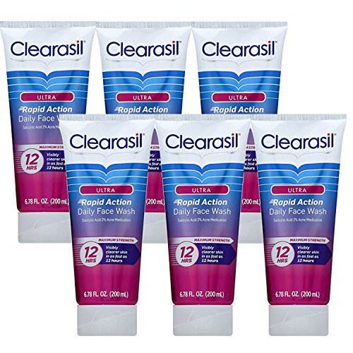 Clearasil Clearasil Ultra Acne Treatment Daily Face Wash, 6.78 Ounce (Pack of 6)