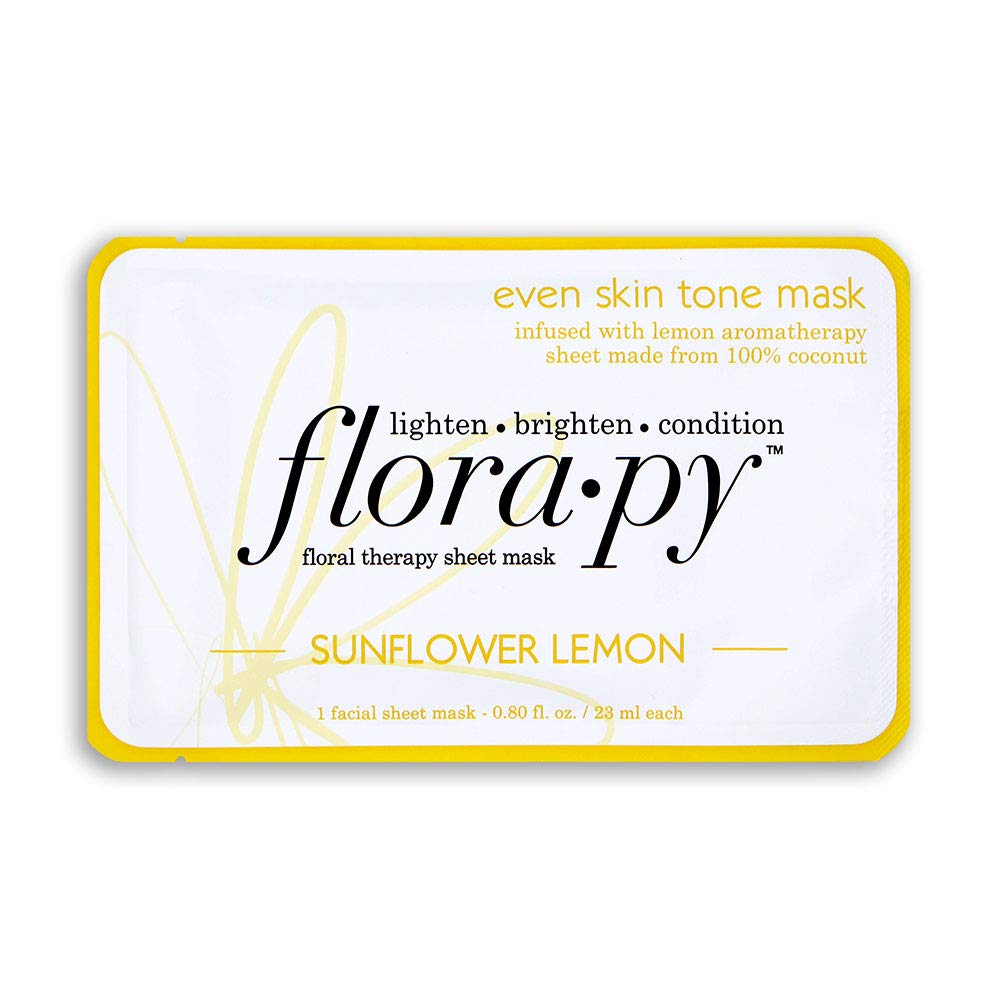 Florapy Beauty - Florapy Beauty Even Skin Tone Sheet Aromatherapy Mask, Sunflower Lemon, 1 Count