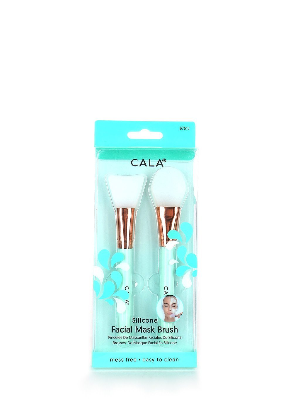 null - [ TRENDING] CALA SILICONE FACIAL MASK BRUSH Mess Free, Easy To Clean #67515