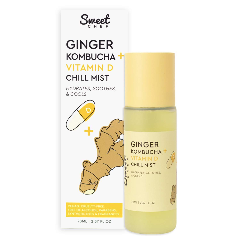 Sweet Chef Ginger Kombucha + Vitamin D Chill Mist - Probiotic-Rich Dewy Skin Spray (70ml / 2.37 fl oz)