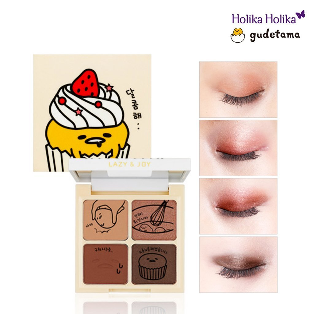 HOLIKA HOLIKA - [Holika Holika] Lazy & Joy Gudetama Cupcake Eye Paltte Shadow (01 Red Velvet)