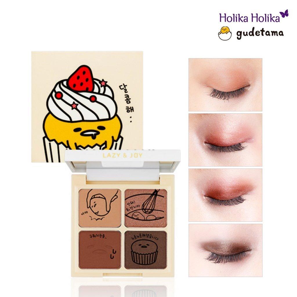 HOLIKA HOLIKA - [Holika Holika] Lazy & Joy Gudetama Cupcake Eye Paltte Shadow (01 Red Velvet)