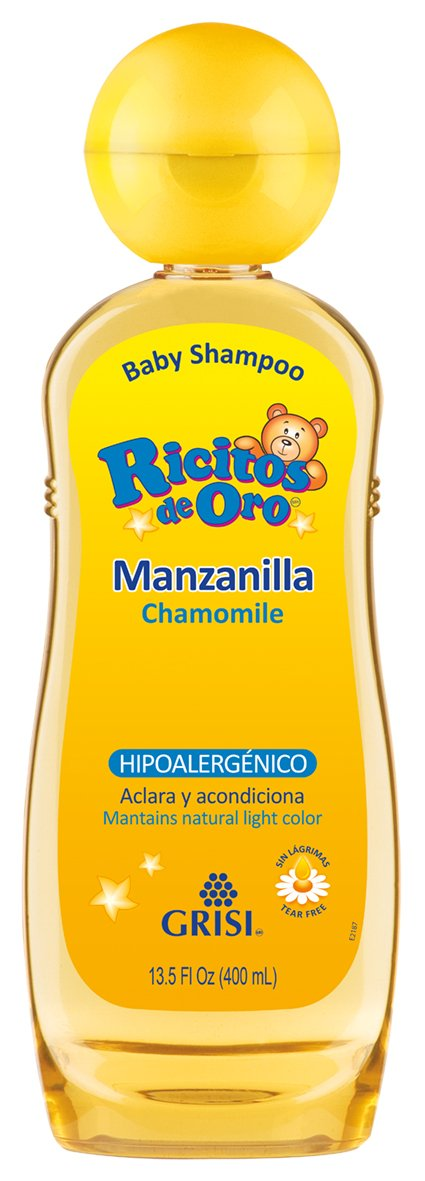 null - Ricitos de Oro Shampoo, Manzanilla, color Amarillo, 400 ml