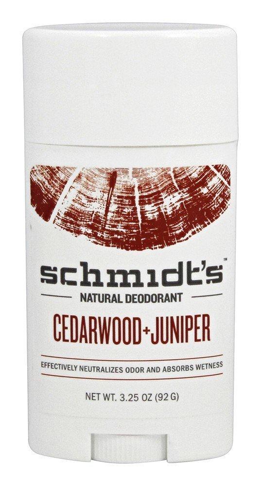 Schmidt's Deodorant - Schmidt's Deodorant Stick, Cedarwood + Juniper, 3.25 Ounce