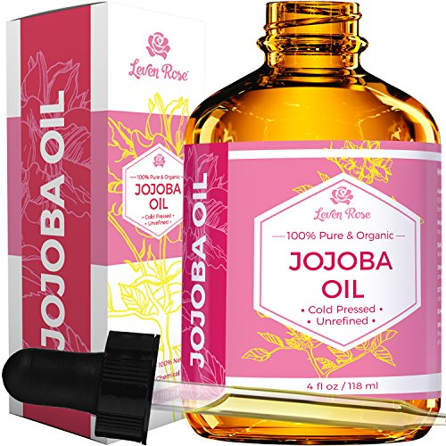 Leven Rose - Jojoba Oil by Leven Rose, Pure Cold Pressed Natural Unrefined Moisturizer for Skin Hair and Nails 4 oz
