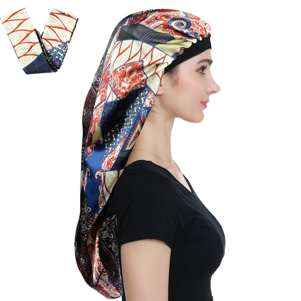 null - Alnorm Sleep Bonnets for Curly Hair Braids Black Women