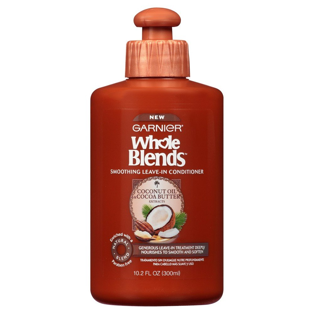 Garnier - Garnier Whole Blends Smoothing Leave-in Conditioner, Coconut Oil & Cocoa Butter 10.2 oz