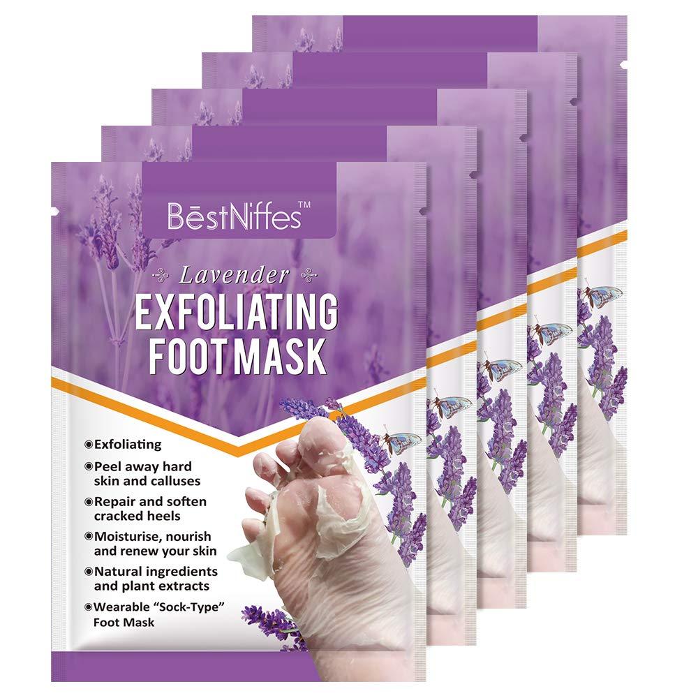 null - 5 Pack Foot Peel Mask -Baby Foot Peel -Removes Calluses,Dead and Dry Skin - Repairs Rough Heels,Baby Foot Baby Feet Foot Peel (Lavender)